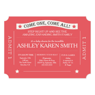 Carnival Baby Shower Invitations