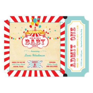 Carnival Baby Shower Invitations