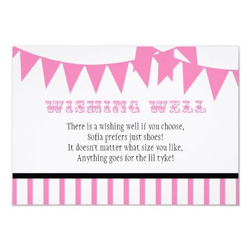 "Carnival Baby Shower Wishing Well Card 3.5"" X 5"" Invitation Card"