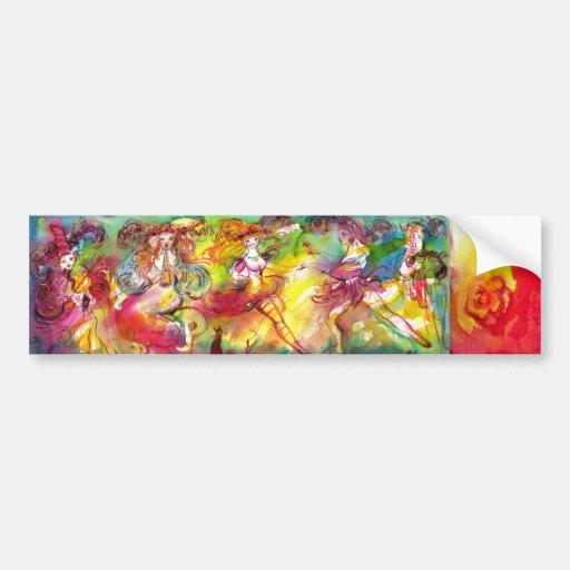 CARNIVAL BALLET / Venetian Masquerade,Dance,Music Bumper Sticker