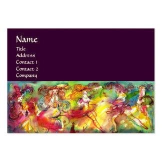 CARNIVAL BALLET / Venetian Masquerade,Dance,Music Large Business Cards (Pack Of 100)