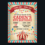 "Carnival Birthday Invitation<br><div class=""desc"">This Invitation perfect for Kid birthday party. Customize your own details to these special theme invitations!</div>"