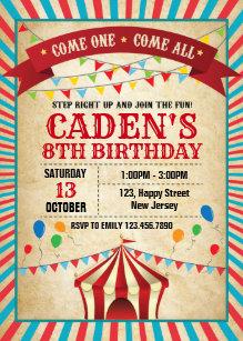 October Birthday Invitations