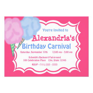 Carnival Birthday Personalized Invitation