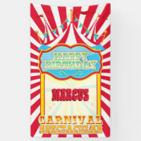 Carnival Birthday Party Banner