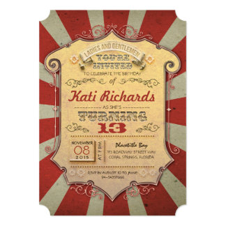 carnival birthday party invitations  announcements  zazzle, Birthday invitations