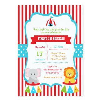 carnival birthday invitations  announcements  zazzle, Birthday invitations