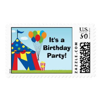 Carnival Birthday Postage Stamp