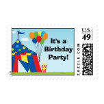 Carnival Birthday Postage Stamp