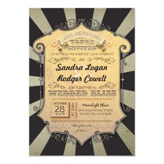 carnival black stripes wedding invitations