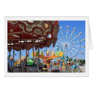 Carnival Blank Notecard Greeting Card