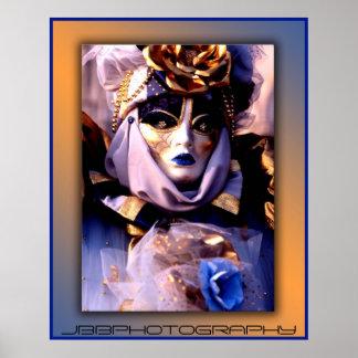 carnival blue gold poster