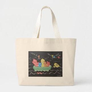 Carnival Boat Ride Large Tote Bag