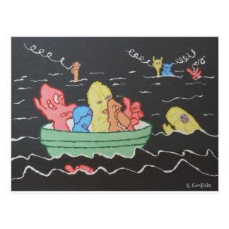 Carnival Boat Ride Postcard