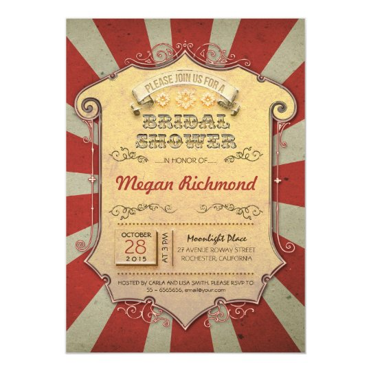carnival bridal shower invitations