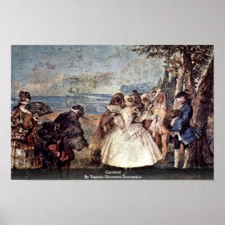 Carnival By Tiepolo Giovanni Domenico Poster
