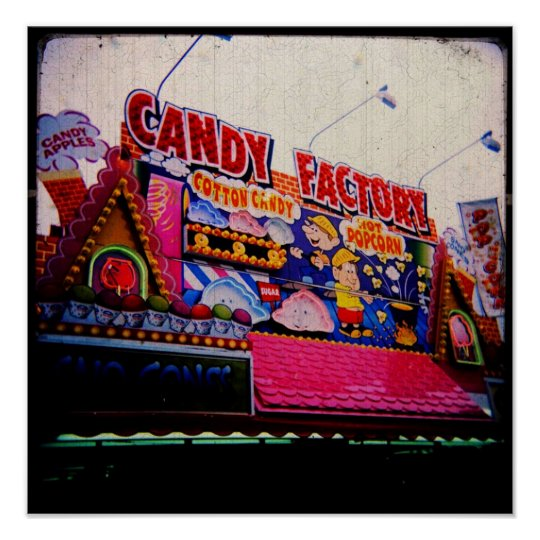 Carnival Candy Factory Photographic Print