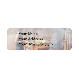 Carnival - Candy - Getting cotton candy Return Address Label
