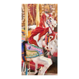 Carnival - Carousel Horses Photo Card