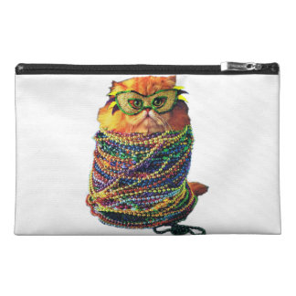 Carnival cat - colorful cat - Funny cats Travel Accessory Bag