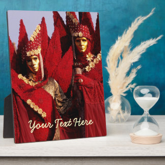 Carnival Characters in Red Costumes Plaque