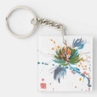 Carnival Chrysanthemum Art Keychain