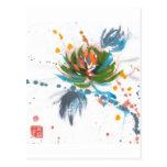 Carnival Chrysanthemum Postcard