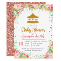 Carnival Circus baby shower invitation