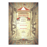 Carnival Circus Elephants Wedding RSVP cards Personalized Invites