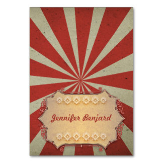 Carnival circus tented place cards - name cards table card