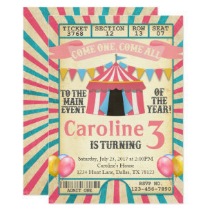 carnival party invitations zazzle