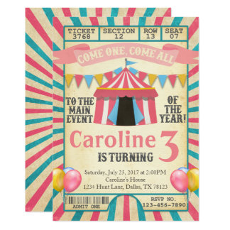 carnival party invitations & announcements | zazzle, Party invitations