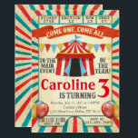 "Carnival Circus Ticket Birthday Party Invitation<br><div class=""desc"">Add uniqueness to your little ones special day with this Circus invitation!</div>"