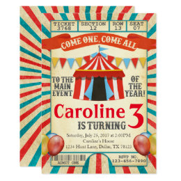 Party ticket invitations announcements zazzle carnival circus ticket birthday party invitation filmwisefo Choice Image