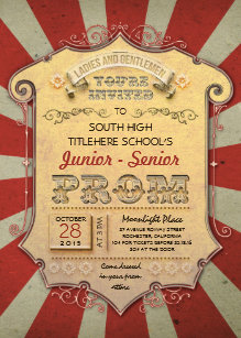 Vintage Circus Invitations Announcements