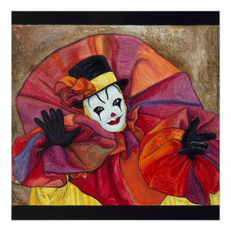 Carnival Clown Poster