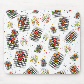 carnival,clown,streamer,kid,party fun cirus mouse pad