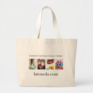Carnival, Concerts, Cuisine, Culture Large Tote Bag