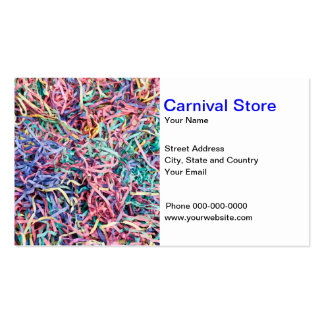 Carnival Costumes Business Card Business Card
