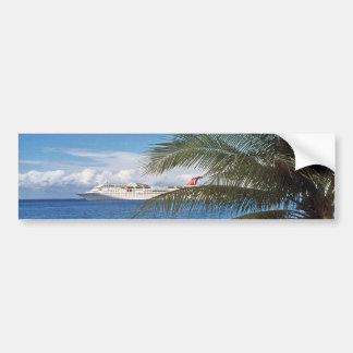 Carnival cruise ship docked at Grand Cayman Island Car Bumper Sticker