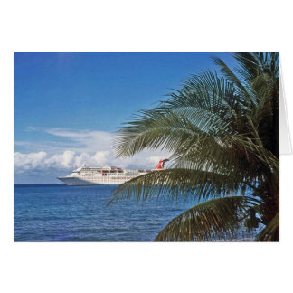 Carnival cruise ship docked at Grand Cayman Island Greeting Cards