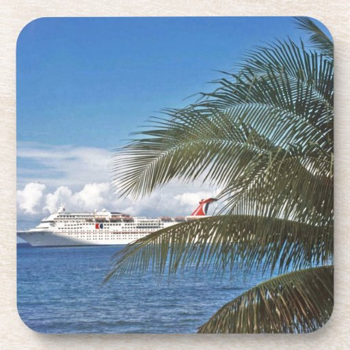 Carnival cruise ship docked at Grand Cayman Island Drink Coasters
