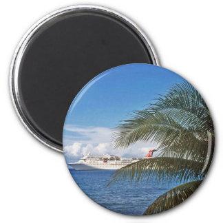 Carnival cruise ship docked at Grand Cayman Island Fridge Magnets