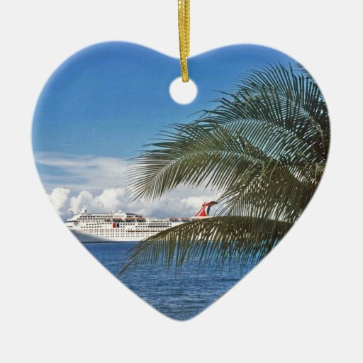Carnival cruise ship docked at Grand Cayman Island Ornament