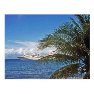 Carnival cruise ship docked at Grand Cayman Island Postcard