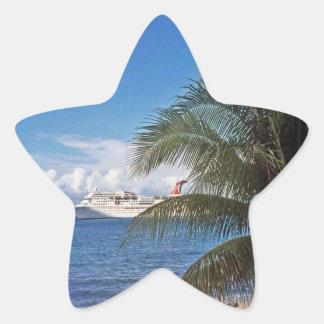 Carnival cruise ship docked at Grand Cayman Island Star Sticker