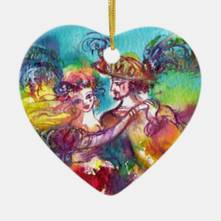 CARNIVAL DANCE  RED RUBY HEART CHRISTMAS ORNAMENTS