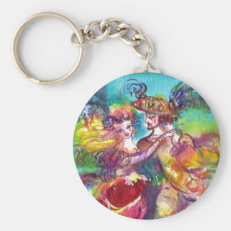 CARNIVAL DANCE Venetian Masquerade Ball Basic Round Button Keychain