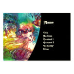 CARNIVAL DANCE / Venetian Masquerade Ball ,Black Large Business Cards (Pack Of 100)