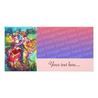 CARNIVAL DANCE Venetian Masquerade Ball,pink Card